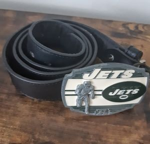 NY Jets Black Belt with Metal Buckle
